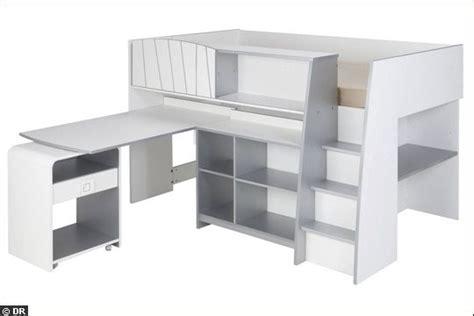 3鑪e bureau label tout en un lit bureau rangements chambre d enfant