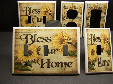 Details About Sunflowers Country Bless Our Home Kitchen Kitchen Switch Plates Outlet Covers