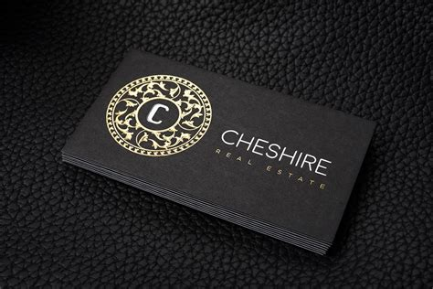 Free Luxurious Gold And Silver Foil Black Business Card Template Cheshire Luxury Business Card Template