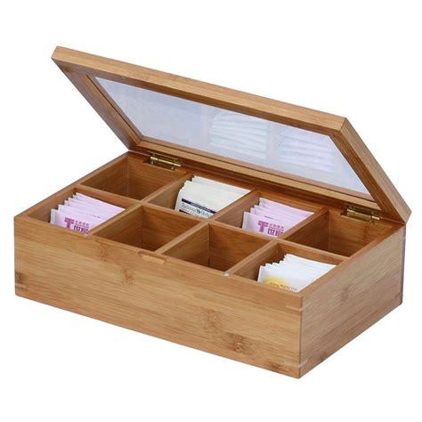 lada bamboo oceanstar bamboo tea box tb1323 the home depot