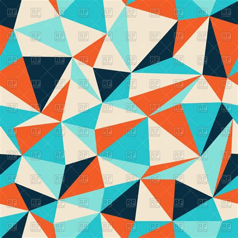 pattern with triangle colorful seamless pattern with triangles polygonal