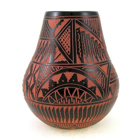 American Vases by American Indian Pottery Vase By Bernice Watchman