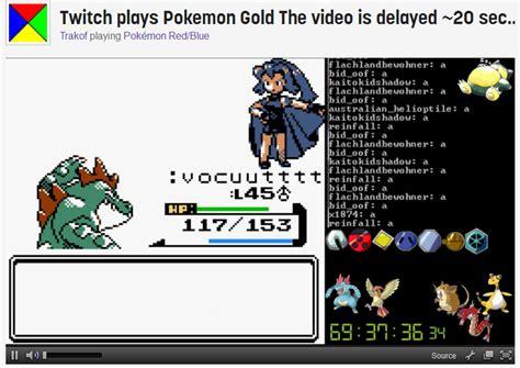 2014 A Twitch Odyssey Twitch Plays Pokemon Know Your Meme - twitch plays pokemon gold by sergeant sunflower on deviantart