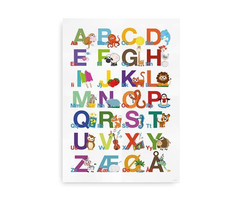 Plakat Alfabet by Abc Alfabetplakat Plakat Med Farverige Illustrationer