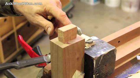 tenon cutting demo  japanese hand saws part