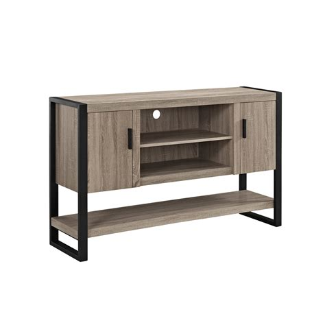 desk and tv stand 60 quot urban blend tv console table buffett driftwood black
