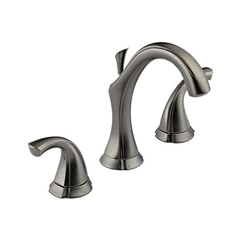 pewter bathroom faucet delta 3592 pt addison two handle widespread bathroom sink