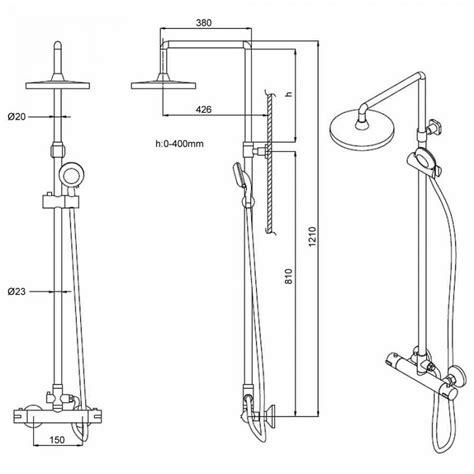 altezza miscelatore doccia colonna doccia completa regolabile con miscelatore