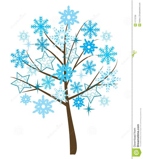 snowflake tree royalty free stock images image 11772709