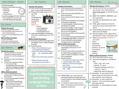 studio aqa gcse 2017 vocab grammar test with aqa gcse english language exam revision knowledge organiser by secondaryenglishjournal