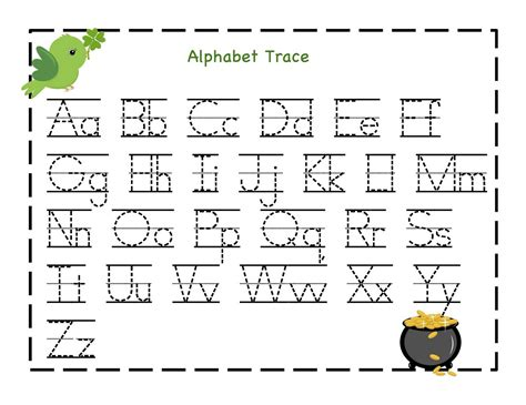 printable worksheets for kindergarten alphabet traceable letter worksheets to print activity shelter