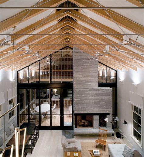 Modern Barn House by Unusual Barn Style Home With Slatted Wood Siding Modern
