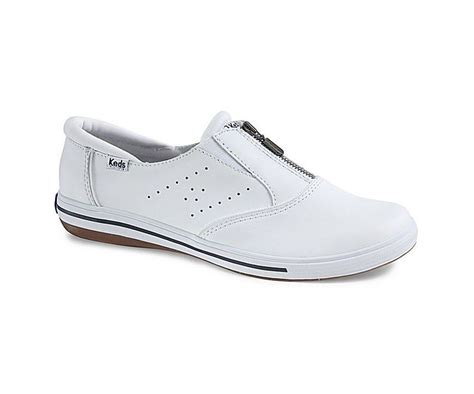 womens keds pacey zip white leather shoe size 5 11 wh52739
