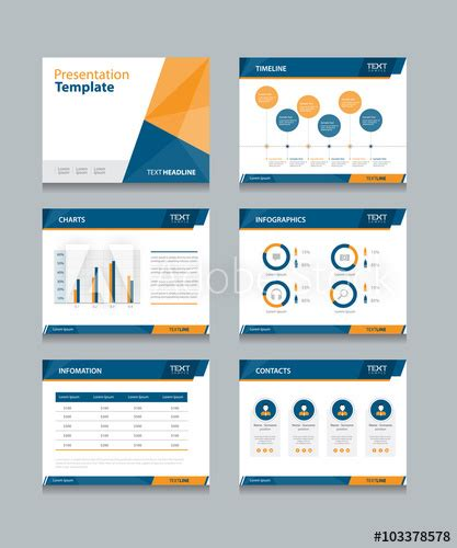 layout presentation illustrator business presentation template set powerpoint template