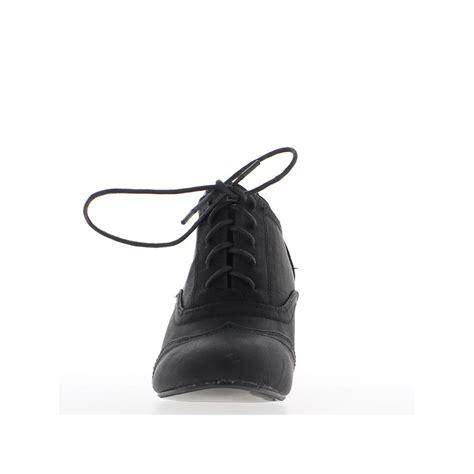 wedge boots black 7cm heel chaussmoi
