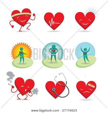 imagenes de corazones sanos vectores y fotos en stock de conjunto de 9 emoticonos 3