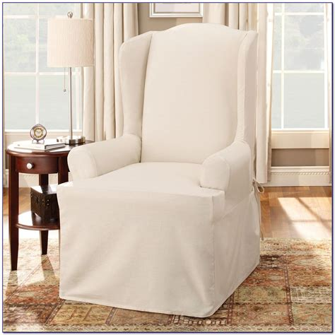 chair slipcovers pottery barn wingback chair slipcovers pottery barn chairs home