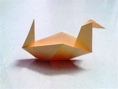 How To Make Duck From Paper - how to make an origami paper duck 2 origami paper