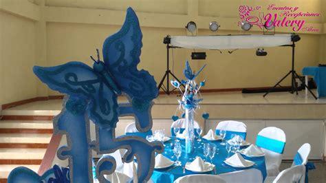 adorno de quince en mariposa fiesta 15 a 241 os decoraci 243 n mariposas azules youtube