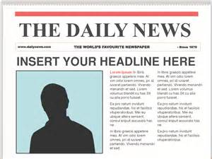 Newspaper Template by 7 Newspaper Template Budget Template Letter