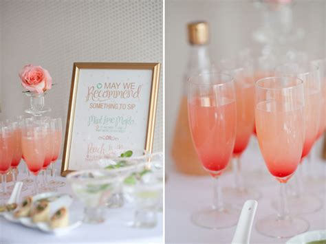 Signature Drink For Your Wedding by Mint And Gold Wedding Ideas