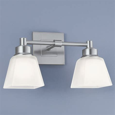 norwell lighting norwell lighting matthew brush nickel bathroom light 9636 bn sq destination lighting