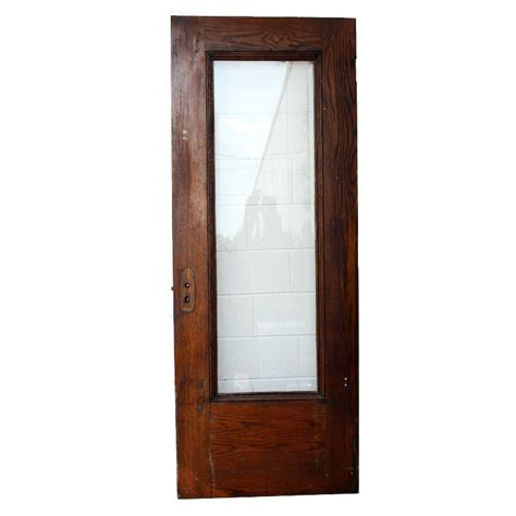 Salvaged Exterior Doors Salvaged 32 Oak Exterior Door With Egg And Dart Trim Beveled Glass C 1910 Ned58 For Sale