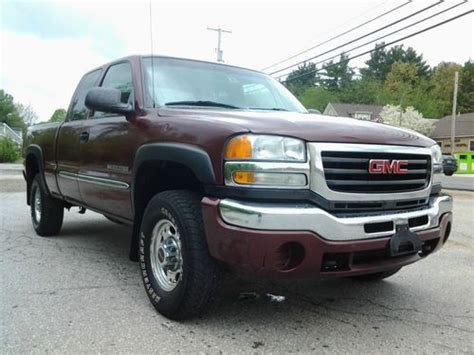 how to fix cars 2003 gmc sierra 2500 parking system purchase used 2003 gmc sierra 2500 hd sle extended cab pickup 4 door 6 0l 4x4 in hudson new