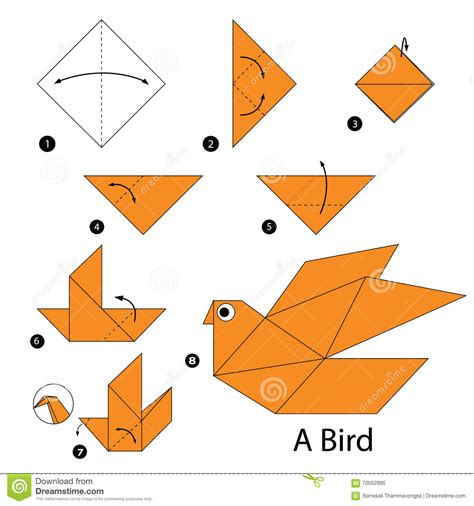 Make A Paper Bird - step by step how to make origami a bird