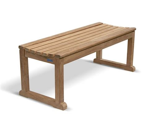 Modern Indoor Benches Westminster Teak 4ft Backless Garden Bench Tennis Bench