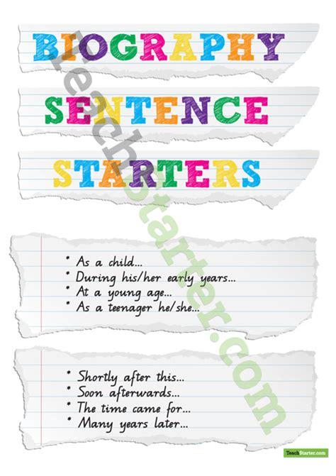 biography connectives ks2 biography sentence starters teach starter ela