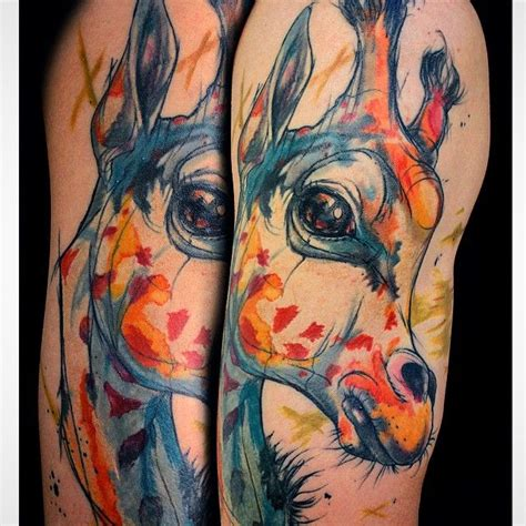 watercolor tattoos giraffe 814 best images about animals on