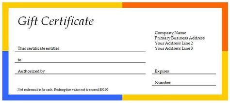 40 Gift Certificates Templates For Any Occasion Microsoft And Open Office Templates Microsoft Gift Certificate Template