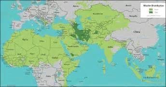Islamic World Map by Map Of Islamic World Israa Amp Mi Raj Net