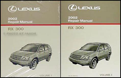 vehicle repair manual 2002 lexus rx electronic valve timing 1999 2003 lexus rx 300 4wd automatic transmission overhaul manual rx