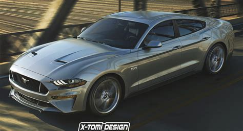2018 ford sedan 2018 ford mustang sedan takes a fictitious swing at dodge