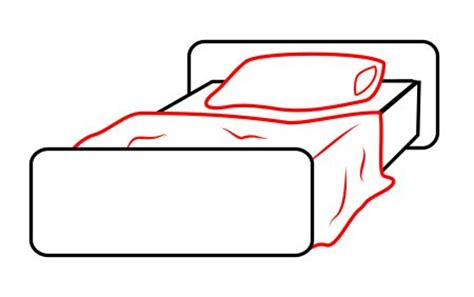 how to draw a bed how to draw a cartoon bed directed drawings pinterest