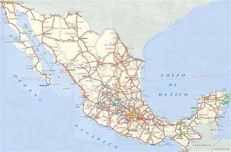 mapa de carreteras de mapa de carreteras de m 233 xico mapa de m 233 xico