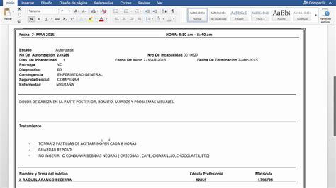 pdf formatos inv total r p pdf formatos recursos humanos justificante medicoooo editable en word youtube