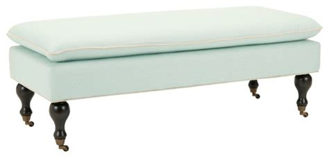 Robin Upholstered Bedroom Bench mansfield robin s egg blue pillowtop ottoman