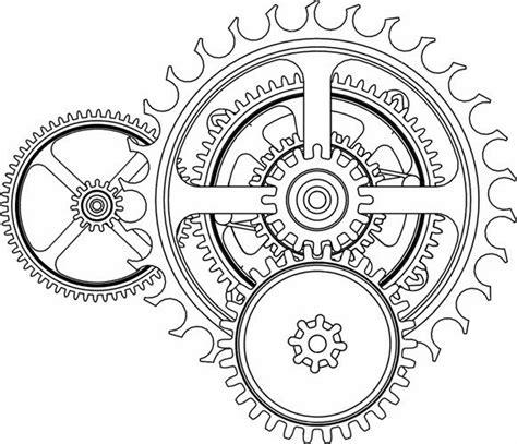 printable clock gears tattoos book 2510 free printable tattoo stencils