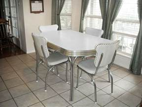 White Kitchen Table And Chairs Ebay Vintage Retro 1950 S White Kitchen Or Dining Room Table With 4 Chairs