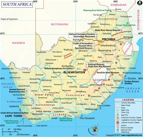 printable road maps south africa south africa map detailed map of south africa
