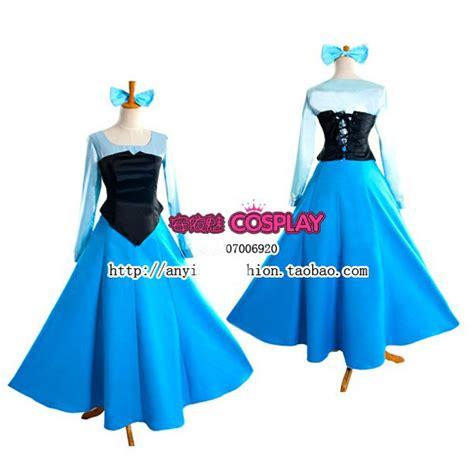 pattern for ariel blue dress the little mermaid princess ariel blue dress cosplay