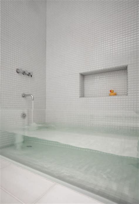 sternmccafferty custom glass bathtub   Contemporary