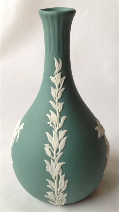 Teal Vase Uk by Nivag Collectables Wedgwood Teal Green Jasperware Teal