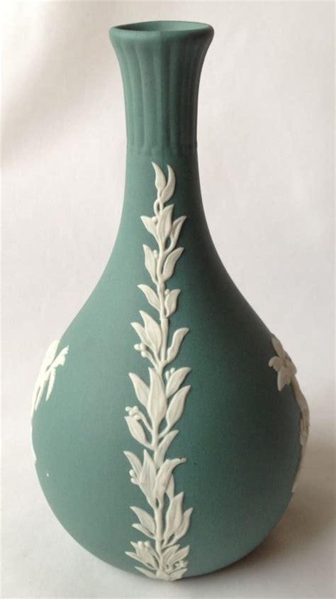 Teal Vase Uk by Nivag Collectables Wedgwood Teal Green Jasperware Teal