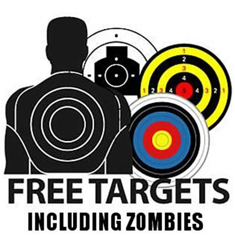 printable head targets pics for gt zombie shooting targets to print
