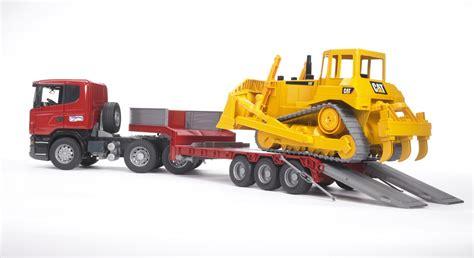 Mainan Anak Scania R Series Low Loader Truck With Cat Bulldozer bruder scania r series low loader truck with cat bulldozer 03555 catmodels
