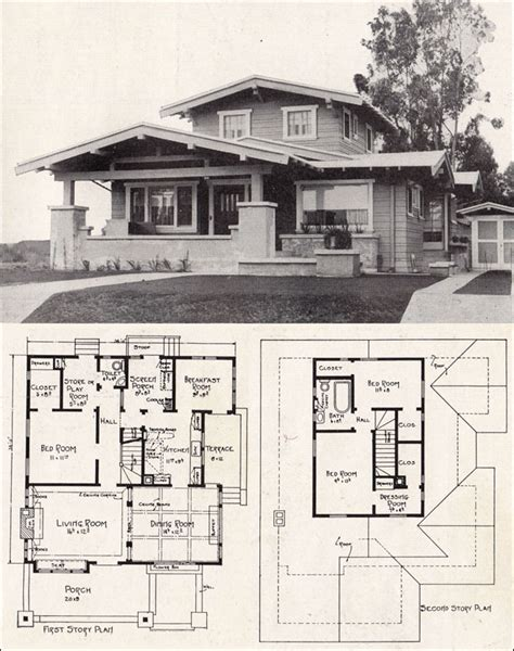 california bungalow floor plans e w stillwell airplane bungalow c 1918